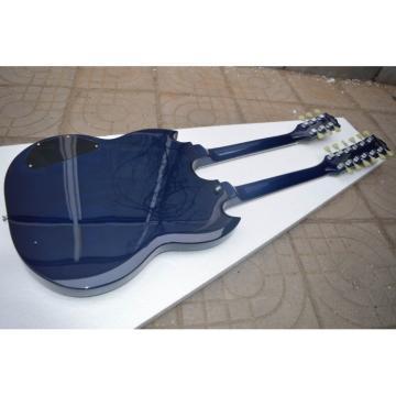Custom Shop Don Felder SG Deep Blue EDS 1275 Double Neck Electric Guitar
