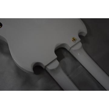 Custom Shop Don Felder EDS 1275 SG Double Neck Arctic White Gold Hardware Guitar Left Handed