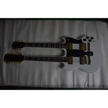 Custom Built Don Felder EDS 1275 SG Double Neck Arctic White Gold Hardware Guitar