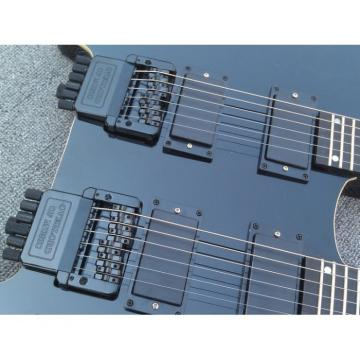 Custom Shop Steinberger Double Neck Headless Guitar Black