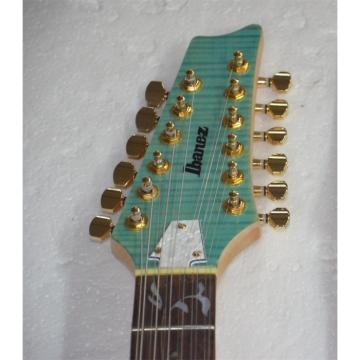 Project 12 String Unfinished Ibanez Neck Mother of Pearl Dot Inlays