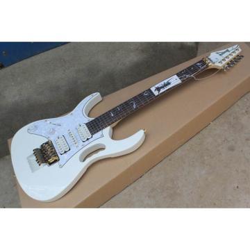 Custom Shop Left Handed Ibanez Jem7v White Steve Vai Guitar