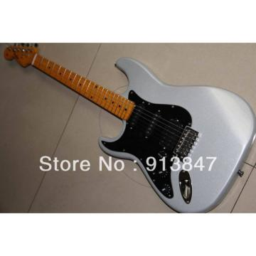 American Lefty Silver Fender Stratocaster Guitar
