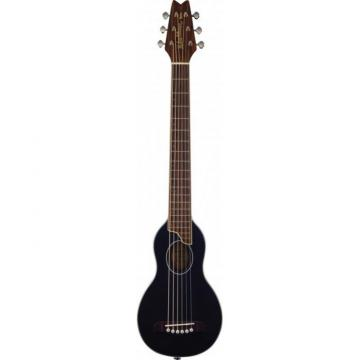 New Washburn Rover RO10/B Black Finish Travel or Kids Guitar W/ Case