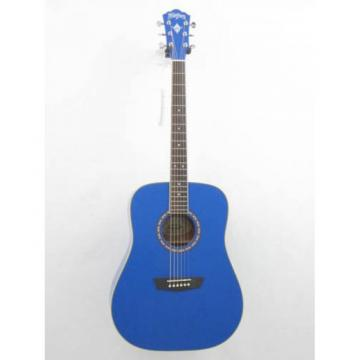 Washburn Apprentice WD10/BL Blue Dreadnought Size Acoustic Guitar