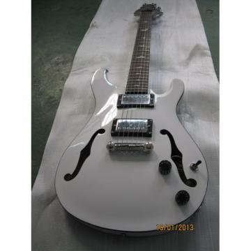 Custom Paul Reed Smith White Hollow Body Guitar