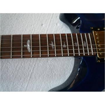 Custom Paul Reed Smith Blue Hollow Body Guitar