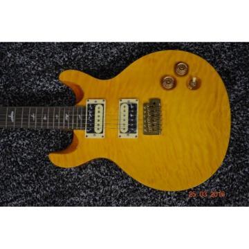 Custom 24 Frets Paul Reed Smith Yellow Santana Flame Maple Top Guitar