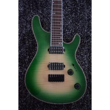 Custom Built Regius 7 String Maple Top Green Mayones Guitar Japan Parts