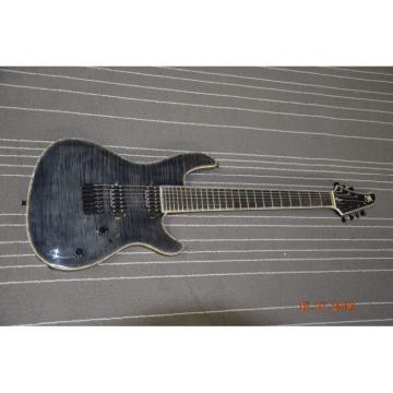 Custom Built Regius 7 String Gray Flame Maple Finish Mayones Guitar