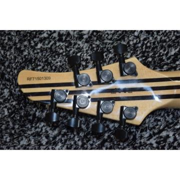 Custom Built Regius 7 String Transparent Blue Tiger Burst Maple Top Mayones Guitar