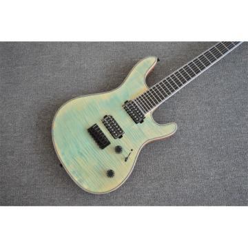 Custom Built Regius 7 String Denim Teal Maple Top Mayones Guitar