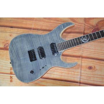 Custom Built Regius 6 String Gray Flame Maple Top Finish Mayones Guitar