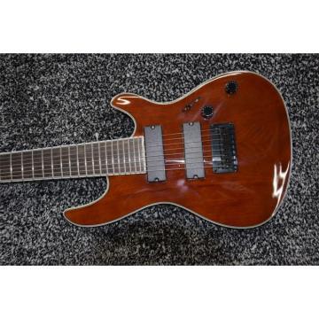 Custom Built Regius 7 String Brown Finish Mayones Guitar