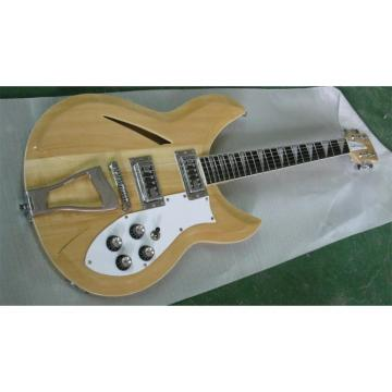 Custom Hollow Body Rickenbacker 330 Natural Guitar