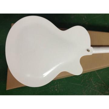 Left Handed White Gretsch Falcon 6120 Jazz Guitar