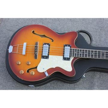 Custom Hofner Tobacco Color Fhole Jazz Electric Guitar