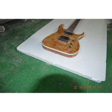 Custom Shop Black Machine 7 String Natural Birdseye Electric Guitar