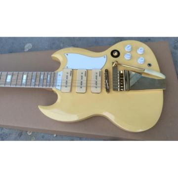 Project 12 String Ivory Color Electric Guitar Maestro Vibrola