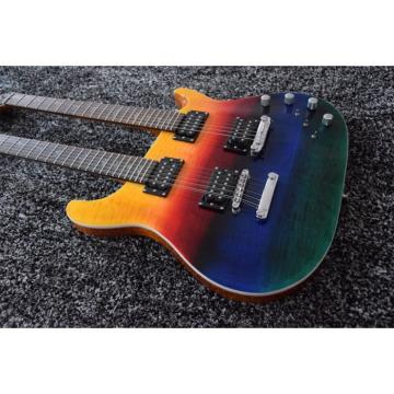 Custom Prism PRS Double Neck 6 String Electric Guitar Passive Pickups and 12 String Guitar