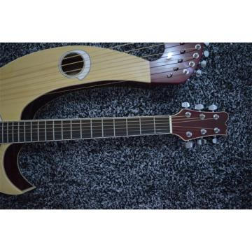 Custom Shop Natural Double Neck Harp Acoustic Guitar