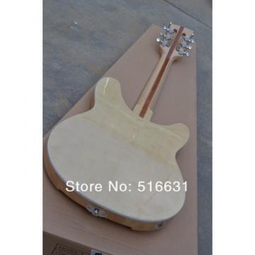 Custom 12 Strings Natural Rickenbacker 330 Left Handed Electric Guitar