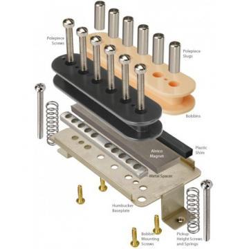 Humbucker Kit With Alnico 5 Magnets And Zebra Bobbins