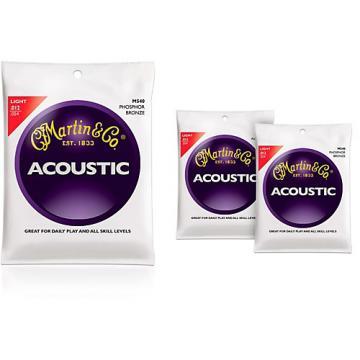 Martin M540 Phosphor Bronze Light 3-Pack Acoustic Guitar Strings