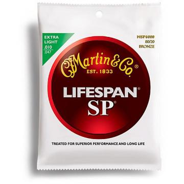Martin MSP6000 SP Lifespan 80/20 Bronze Extra Light Acoustic Guitar Strings