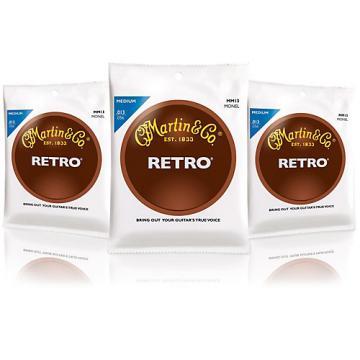 Martin Martin Retro Acoustic Guitar Strings Medium Gauge - 3 Pack
