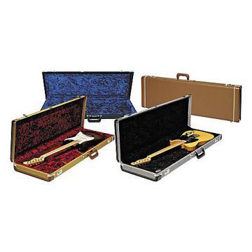 Fender Strat/Tele Hardshell Case Black Orange Plush Interior