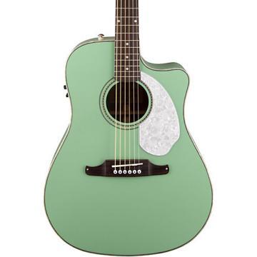 Fender California Series Sonoran SCE Cutaway Dreadnought Acoustic-Electric Guitar Surf Green