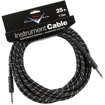 Fender Custom Shop Performance Series Instrument Cable Black Tweed 25 ft.