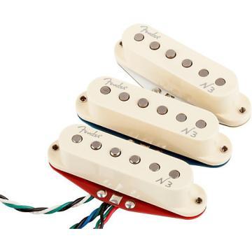 Fender N3 Noiseless Stratocaster Pickups Set of 3 White Covers