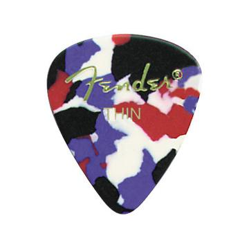 Fender Classic Celluloid Confetti Guitar Pick 12-Pack Thin 1 Dozen