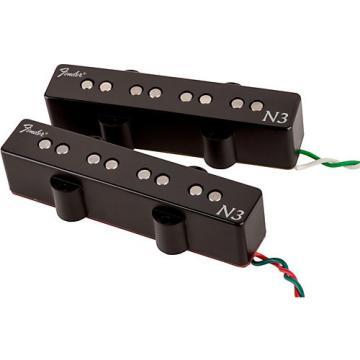 Fender N3 Noiseless Jazz Bass Pickups Set of 2 Black Covers
