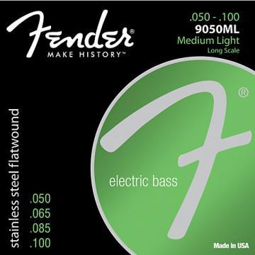 Fender 9050ML Stainless Steel Flatwound Long Scale Bass Strings - Medium Light