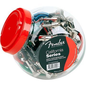 "Fender California Series 6"" Insturment Patch Cable Bowl (20 count) - Multi Color"