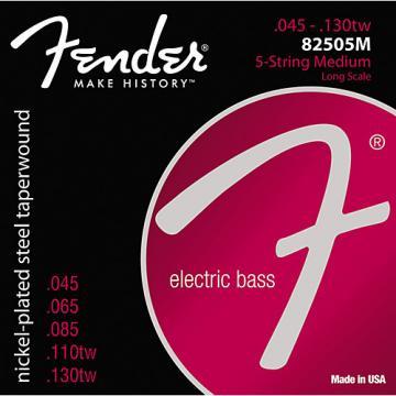 Fender 8250-5M Nickel-Plated Steel Taperwound 5-String Bass Strings - Medium