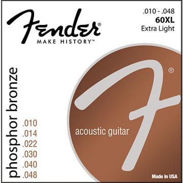 Fender 60XL Phosphor Bronze Acoustic Strings - Extra Light