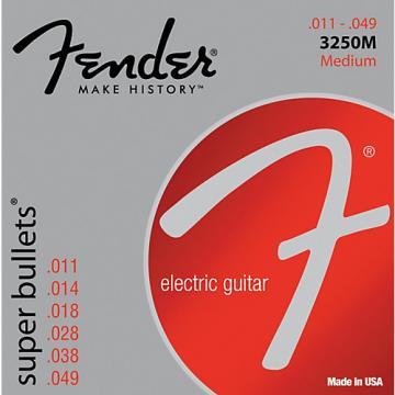 Fender 3250M Nickel-Plated Steel Bullet-End Electric Strings - Medium