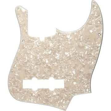 Fender 10-Hole Standard Jazz Bass Pickguard Aged White Pearl