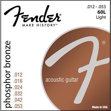Fender 60L Phosphor Bronze Acoustic Strings - Light