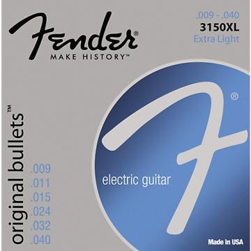 Fender 3150XL Original 150 Pure Nickel Bullet-End Electric Guitar Strings - Extra Light