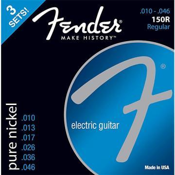 Fender 150R Nickel End Guitar Strings, Gauges 10-46 (3-Pack)