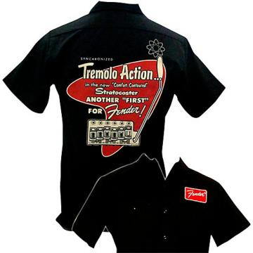 Fender Tremolo Work Shirt Black Small