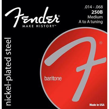 Fender B250 Nickel-Plated Steel Baritone Medium Electric Guitar Strings (14-68)