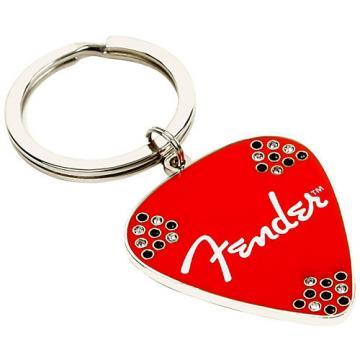 Fender Pick Keychain Red