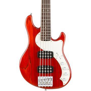 Fender American Elite Dimension Bass V HH, Rosewood, Electric Bass Guitar Cayenne Burst