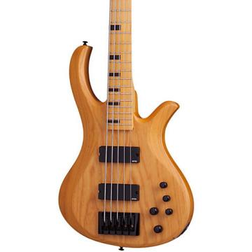 Schecter Guitar Research Riot-5 Session  5 String Electric Bass Guitar Satin Aged Natural